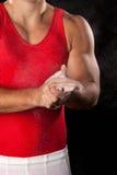 男性体操运动员 库存照片