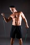 男性健身设计 免版税图库摄影