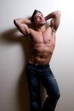 男性健身设计 库存照片