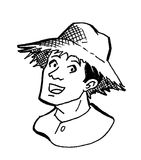 男性农夫 免版税库存照片