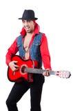 男性吉他演奏员 库存图片