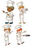 男性和女性厨师 免版税库存图片