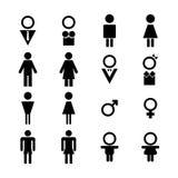 男性和女性标志 库存例证