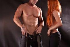 男性和女性爱好健美者 库存照片
