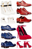 男性和女性鞋子 免版税库存照片