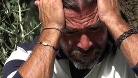 男性和悲伤 免版税库存图片