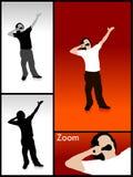 男性姿势唱歌 免版税图库摄影