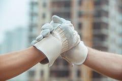 男性工作大楼建设工程职业项目 免版税图库摄影