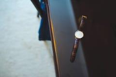 男性手手表 图库摄影