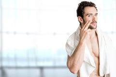 男性护肤 免版税库存图片
