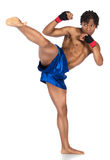 男性拳击战斗机 免版税库存图片