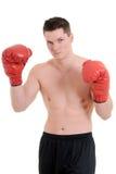 年轻男性拳击手 库存照片