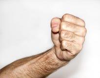 男性拳头 库存图片