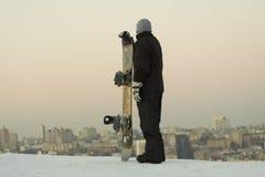 男性挡雪板 免版税图库摄影