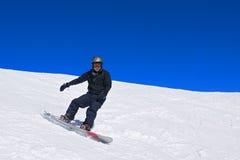 男性挡雪板 图库摄影