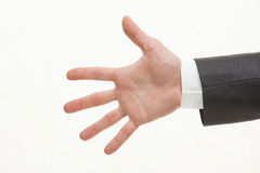 男性掌上型计算机 免版税图库摄影