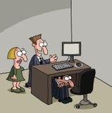 男性新的办公室工作者 库存照片