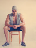 男性时装模特儿 库存照片
