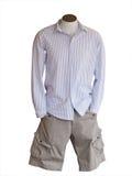 男性时装模特界面短裤佩带 免版税库存图片