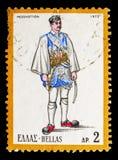 男性服装, Messolonghi,西希腊,国民打扮serie, 免版税库存照片