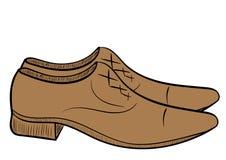 男性棕色鞋子 库存图片