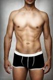 男性模型性感的内衣 图库摄影