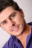 男性模型紫色 免版税库存图片