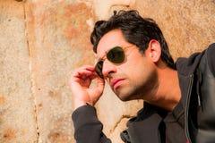 年轻男性模型,印地安模型 免版税库存照片