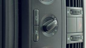 男性汽车空调器手转动的开关  影视素材