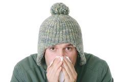 男性流感 免版税库存图片