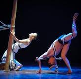 男性激素差事到迷宫现代舞蹈舞蹈动作设计者玛莎・葛兰姆里 库存照片