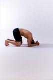 男性瑜伽设计 免版税库存图片