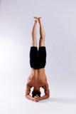 男性瑜伽设计 免版税图库摄影