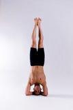 男性瑜伽设计 图库摄影