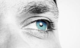 男性眼睛射击 免版税库存图片
