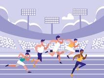 男性竞技种族具体化字符 向量例证