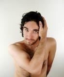 男性纵向 免版税图库摄影