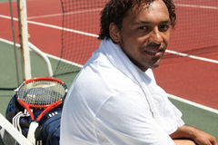 男性网球员 库存图片