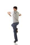 男性舞蹈演员选拔轻拍 库存照片