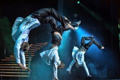 男性芭蕾表现 免版税库存照片