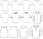 男性衬衣模板 库存例证