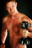 男性裸体锻炼 库存照片