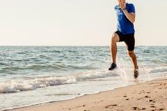男性赛跑者赛跑 免版税图库摄影