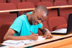 男性非洲大学生 免版税库存图片