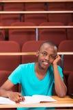 男性非洲大学生 免版税库存照片