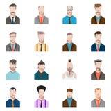 男性面孔髭和胡子和太阳镜,平的样式 免版税库存照片