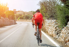 男性骑自行车者 免版税库存照片