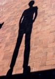 男性阴影 免版税库存照片