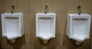男性洗手间 库存图片