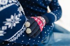 男朋友和女朋友移动的生活方式、宁静和沉思在一个冷的冬天假期 森林本质星期日冬天 夫妇年轻人 图库摄影
